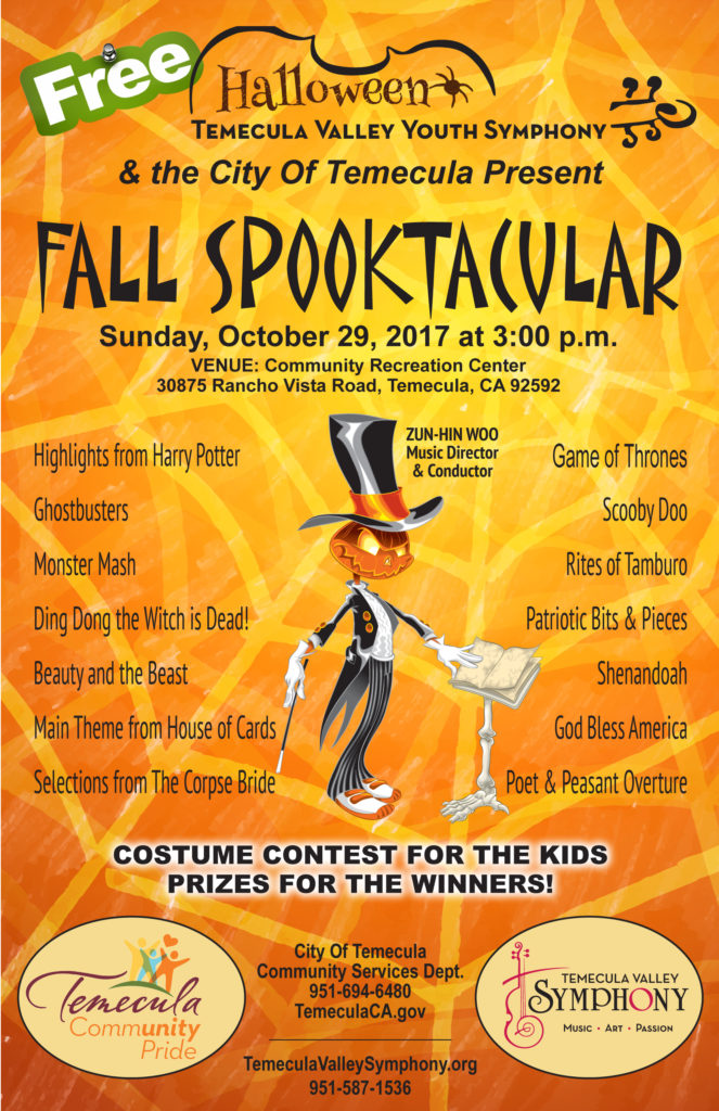 FALL SPOOKTACULAR - Youth Symphony Concert at Temecula Amphitheater - FREE @ Temecula Amphitheater at the Community Recreation Center
