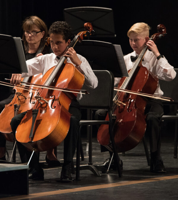 Temecula Valley Youth Symphony Cellos with Coach Gina Wingfield
