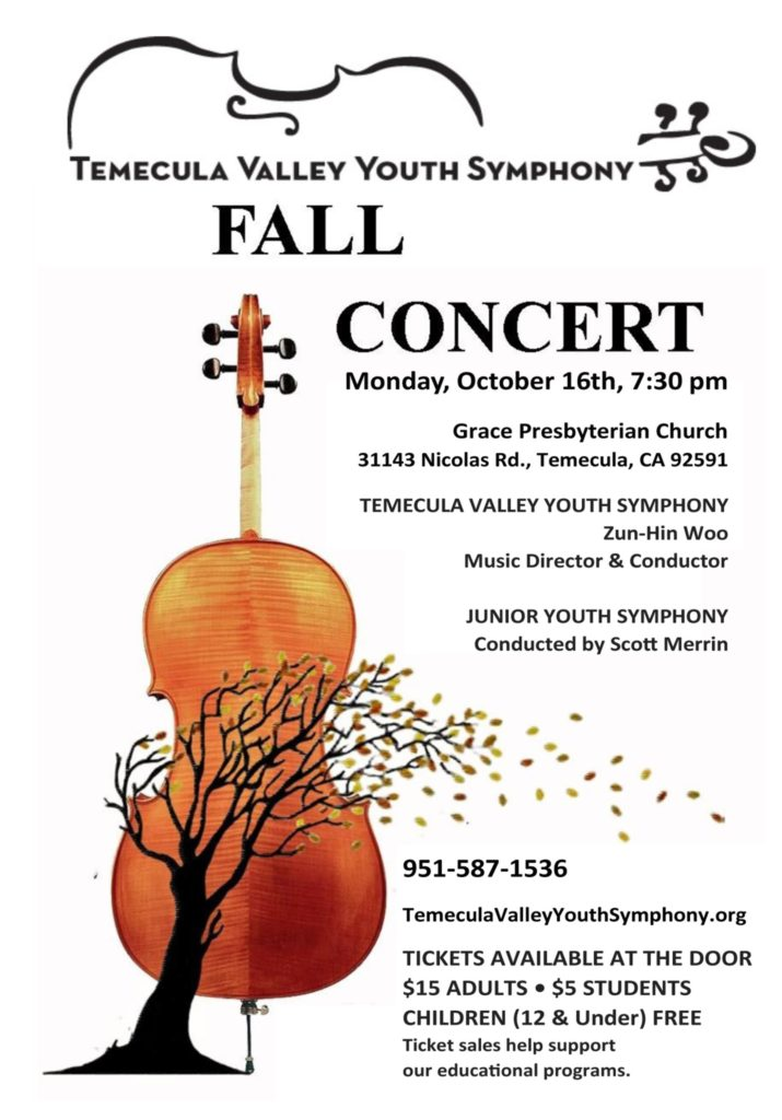 CELEBRATE! - Youth Symphony Fall Concert @ Grace Presbyterian Church