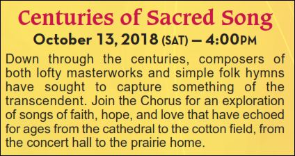 CENTURIES OF SACRED SONG - Chorus Chamber Concert @ Grace Presbyterian Church