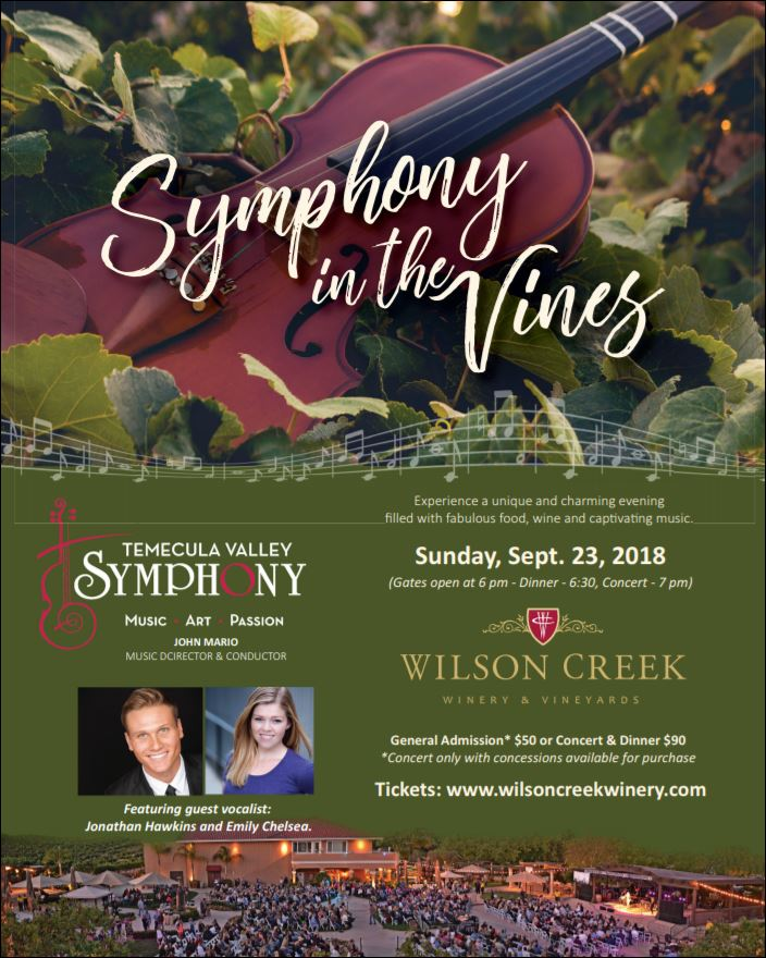 SYMPHONY IN THE VINES at Wilson Creek Winery & Vineyard @ Wilson Creek Winery & Vineyard
