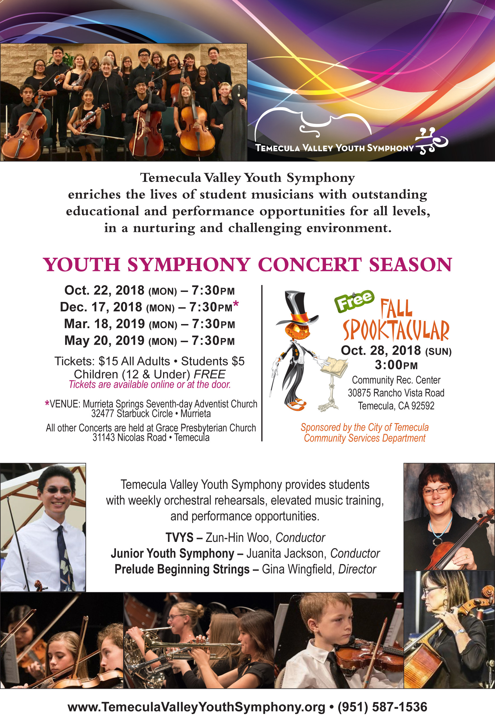 WINTER MAGIC - Youth Symphony Concert @ Murrieta Springs Seventh-day Adventist Church