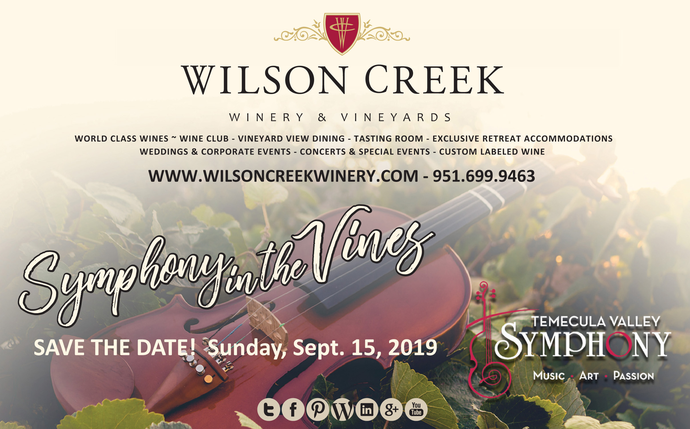 SYMPHONY IN THE VINES @ Wilson Creek Winery