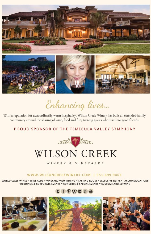 Wilson Creek Winery Sponsors Temecula Valley Symphony