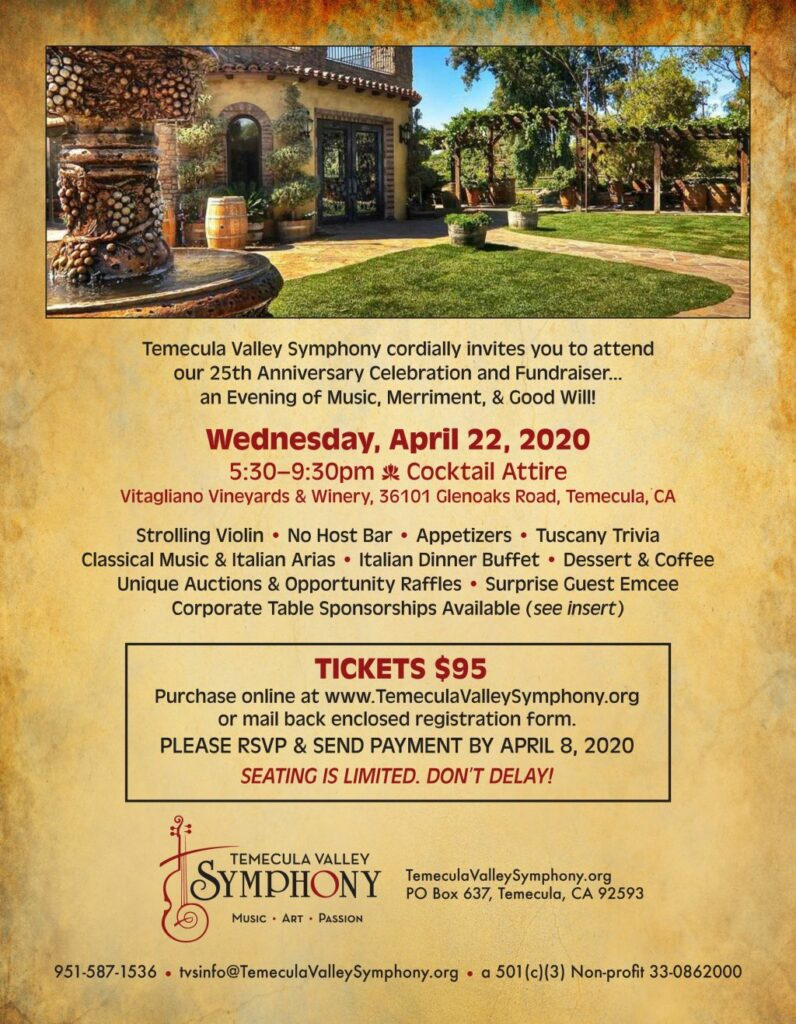 Temecula Valley Symphony 25th Anniversary Gala