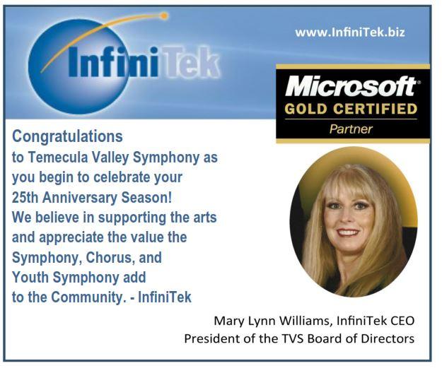 Infinitek Congratulates Temecula Valley Symphony