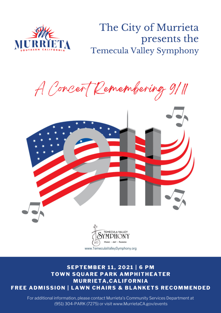 """Remembering 911"" Concert for City of Murrieta Sept. 11, 2021"