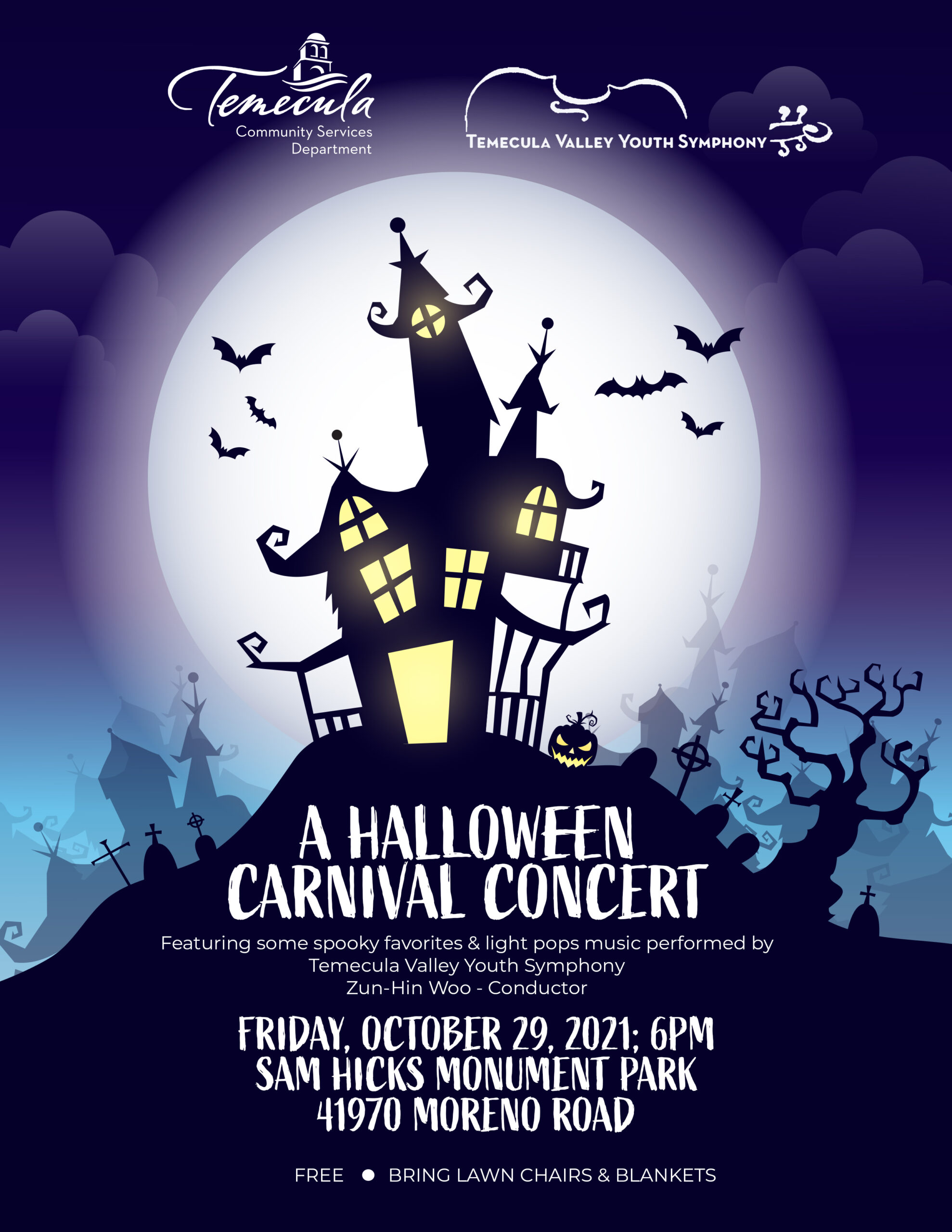 Halloween Carnival concert with Temecula Valley Youth Symphony